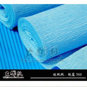 Thick Crepe paper, blue, 40cm x 50cm, 1 sheet, [CR121a]